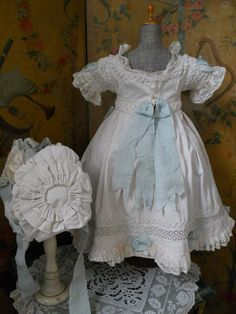 ~~~ Fantastic Large French Antique Bebe Pique Dress with Matching from whendreamscometrue on Ruby Lane