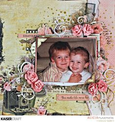 'You Make Life more Beautiful' by Alicia McNamara Design Team member for Kaisercraft Official Blog. Featuring the beautiful June 2917 Keepsake collection. Learn more at kaisercraft.com.au - Wendy Schultz - Kaisercraft Layouts.
