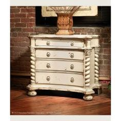 Victoria Four Drawer Chest with Bun Foot 39 inches wide