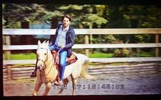 Jonathan Scott ON A HORSE. SHUT UP.