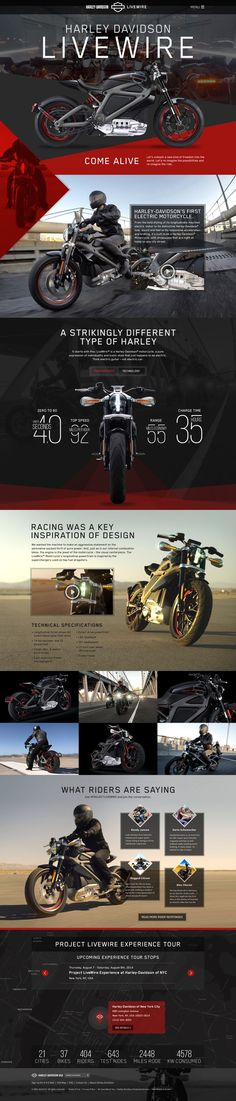 Unique Web Design, Harley-Davidson Livewire http://www.pinterest.com/aldenchong/) more on http://themeforest.net/?ref=Vision7Studio: