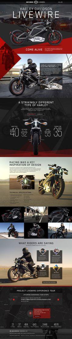 Unique Web Design, Harley-Davidson Livewire http://www.pinterest.com/aldenchong/) more on http://themeforest.net/?ref=Vision7Studio: