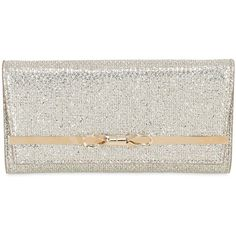 Jimmy Choo Women Lydia Glitter Fabric Clutch (£540) ❤ liked on Polyvore featuring bags, handbags, clutches, gold, glitter handbag, jimmy choo clutches, gold handbags, gold purse and jimmy choo