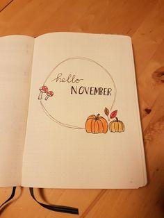 November bullet journal monthly log