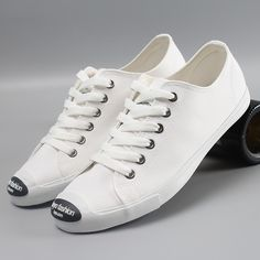 White Canvas with Black Rubber Patch
