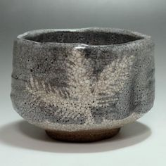 NEZUMI SHINO CHAWAN - Modern Gray Japanese Crackle Glaze Pottery Tea Bowl #2106 - ChanoYu online shop