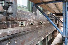 Leaky gaps had opened in the seventh-floor balustrade. Photo: Joe Polowczuk