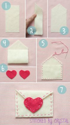 adorable felt Valentines Day envelope. such a sweet gift for kids.