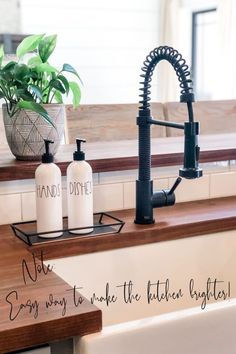 This super easy kitchen upgrade couldn't be faster.  The white hand and dish soap bottles make your kitchen look clean and organized in just 60 seconds.  Farmhouse Kitchen Decor - Refillable Soap Bottles for Kitchen - Home Decor Gifts - Housewarming Gifts - Modern Farmhouse - Home Organization for Kitchen Dish Soap Dispenser, Soap Dispensers, Farmhouse Kitchen Decor, Modern Farmhouse, Kitchen Organization, Organization Hacks, Best Gifts For Mom, Kitchen Upgrades, Housewarming Gifts