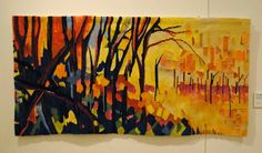Joan Griffin, Forest Edge, 24 x 48 inches, wool, cotton. Rebecca Mezoff, Tapestry Artist: American Tapestry Biennial 10, San Diego