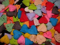 Seed Bomb Wedding Favors Heart Shaped Rainbow Assorted Wildflower Seeds Like these.wonder how they make em or if you can order one specific color? Baby Shower Party Favors, Baby Shower Parties, Party Favours, Wedding Favors For Guests, Wedding Ideas, Wedding Shit, Diy Wedding, Wedding Stuff, Wedding Photos