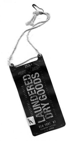 The Hang Tag | Laundered Dry Goods™