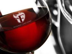 Fogo-logo-verre-vin Lounge Logo, Restaurant, Red Wine, Alcoholic Drinks, Glass, Drinkware, Diner Restaurant, Corning Glass, Liquor Drinks