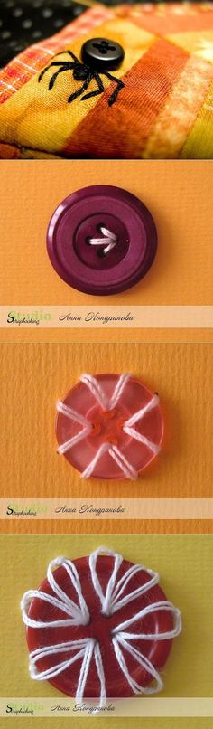 Craft button sewing patterns New ideas Sewing Hacks, Sewing Tutorials, Sewing Patterns, Quilting Tutorials, Sewing Ideas, Knitting Patterns, Fabric Crafts, Sewing Crafts, Button Crafts