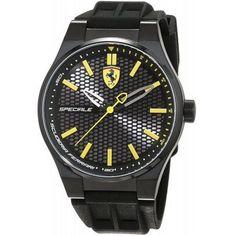 Ferrari Scuderia Speciale 3H Silicone Mens Watch 0830354, Size: 44 mm, Black