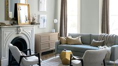 Benjamin Moore Metropolitan was used on the walls of this dining room. Photo: Benjamin Moore Color experts at major paint manufacturers create palette Bedroom Walls, Home Decor Bedroom, The Doors, Design Seeds, Over The Top, Benjamin Moore, Industrial Chic, Southern Living, Living Room Paint