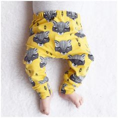 bcd3ebc95f562 Organic baby leggings Fred & Noah Mustard Racoons, xavier would have a  fit for