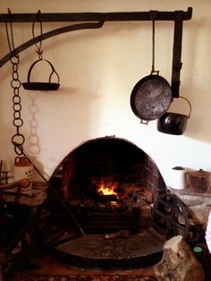 The 300-year-old hearth in the kitchen at Linsfort Castle B, Inishowen, County Donegal
