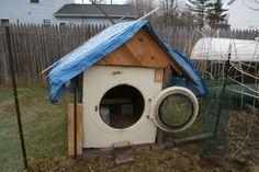 Casinha de Cachorro feita com Máquina de Lavar Reciclada