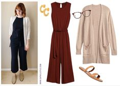 Monday Outfit: A Work from Home Jumpsuit | Capitol Hill Style Capitol Hill Style, Monday Outfit, Makeup At Home, Navy Cardigan, Office Fashion, Office Outfits, What To Wear, Style Me, Jumpsuit