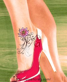 ankle text tattoo: NB lotus                                                         LOVE THIS!