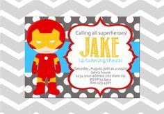 Iron Man Superhero Birthday Digital by ADashOfBeautiful on Etsy, $6.50