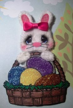 ELITE4U Tear Bear baby Girl bunny paper piecing scrapbook ~ card ~album