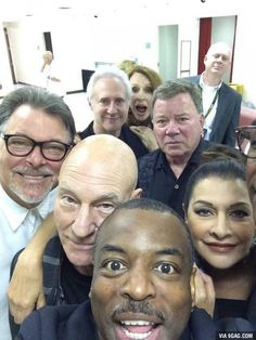 Star Trek Selfie. I think Shatner's pissed because he's not the center of attention.