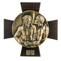 Vía Crucis 14 estaciones latón fundido sobre placa | venta online en HOLYART