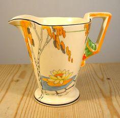 Art Deco Burleigh Ware  Lily Pond  Milk Jug / Creamer