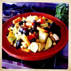 Veggie tajine with olives