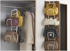 Find This Pin And More On Lakás ötletek By Koviagi26. 17 Clever Handbag  Storage Ideas ...