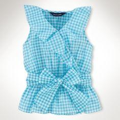 Sleeveless Ruffled Top - Girls 2-6X Tops & Tees - RalphLauren.com