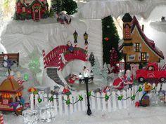 Dept 56 North Pole Elf village Christmas Garden, Christmas Town, Christmas Villages, Diy Christmas Gifts, Christmas Holidays, Christmas Stuff, Christmas Trees, Diy Christmas Village Platform, Christmas Village Display