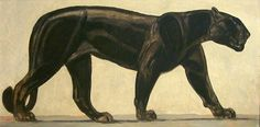 CREATURES PAINTING PAUL JOUVE PANTHER