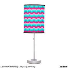 Colorful Chevron Table Lamp