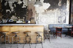 """A stunning amalgamation of early 20th century Parisian style and """"demolition chic"""", Sel Rrose NYC is inspired by artist Marcel Duchamp (or Rrose Sélavy, his feminine alter ego!) in its name, décor and even its cocktails."""
