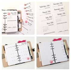 I've listed these Monthly sets in the shop. Each month you will have: -Monthly Highlights -Month on 2 Pages -WO1P with Grid -Notes page at the end.  These are dated June-Dec and you can choose to the flower set or the simple set.  This weekend only use code SAVE20 Shop link in bio.  #Filofax #plannerlove #plannercommunity by marlenesplan2create