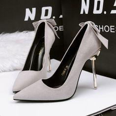 Suede Pumps, Pointed Toe Pumps, Women's Pumps, Stilettos, Stiletto Heels, High Heels, Bow Heels, Wedding Shoes Online, Womens Summer Shoes