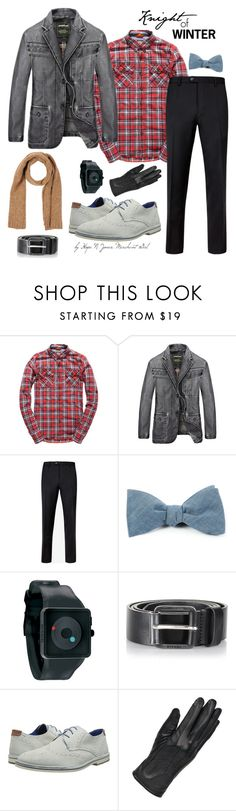 """""""Knight of Winter: Leather Blazer"""" by merchantgirl ❤ liked on Polyvore featuring Superdry, Ted Baker, The Tie Bar, Nixon, Diesel, Wilsons Leather, Luigi Borrelli, modern, men's fashion and menswear"""