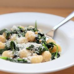 Brown Butter Gnocchi with Spinach