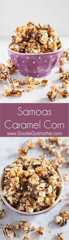 Samoas Caramel Corn - This Girl Scout cookie-inspired recipe always disappears in minutes! * GoodieGodmother.com