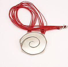Spiral  Silver Pendant hammered