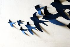 Free  US Shipping 30 3D Bird Wall Art by LeeShay on Etsy, $20.00