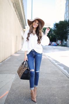 bbb53337f2c An Easy Outfit to Recreate for Fall. Wool Hat OutfitFloppy Hat OutfitFloppy  HatsPants OutfitSimple OutfitsOutfits ...