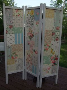 A Thing for Roses: Fun Thrifty Day and a New Project #Quilt #Patchwork #Screen