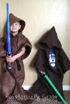 Step by Step Jedi Robe Tutorial-Quinn asked if I could sew him one after completing his Jedi Training at Hollywood Studios.