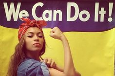 Beyoncé Instagrammed A Photo Of Herself As Rosie The Riveter And It's Everything #Celebrities