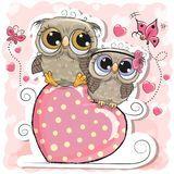 Imagens, fotos stock e vetores similares de Cute Cartoon Owl on a hearts background - 1304109256 Cute Owl Cartoon, Funny Owls, Cartoon Panda, Baby Cartoon, Owl Vector, Kids Vector, Baby Shower Greeting Cards, Owl Silhouette, Owl Kids