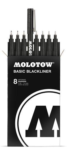 Molotow BASIC Blackliner Marker Complete Set #Black #Marker